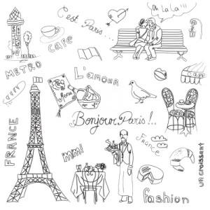 11121701-paris-doodles-french-cuisine